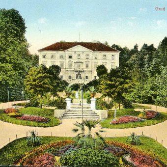Tivolski grad na razglednici leta 1920.