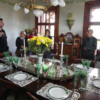 Zeleni salon na Ruski dači med ogledom