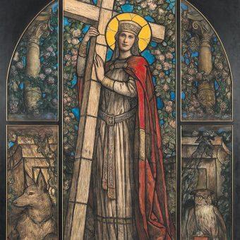 Sliko Svete Helene je ustvaril avstrijski umetnik Adalbert Franz Seligmann.