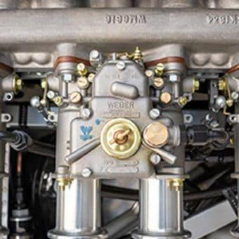Pogled na del motorja