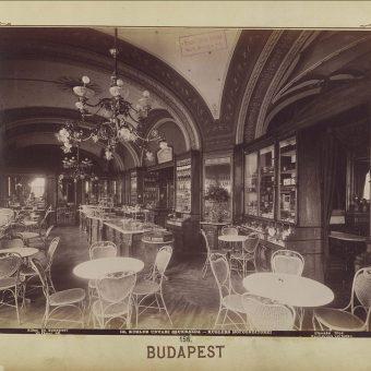 Kavarna Gerbeaud v Budimpešti leta 1900.