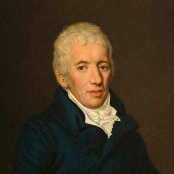 Portret kneza Metternicha, avstrijskega politika, državnika in največjega diplomata svoje dobe, ki visi v knjižnici Ruske dače.