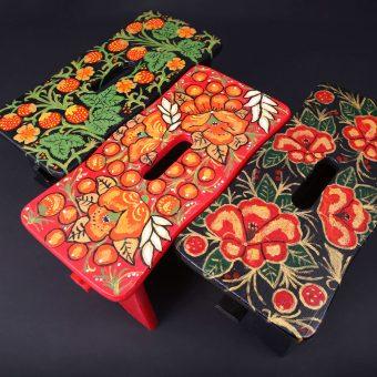 Ročno poslikane pručke z ruskim motivom