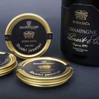 Kaviar in šampanjec Ruska dača